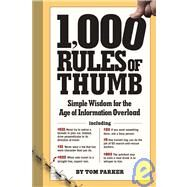 Rules of Thumb by Parker, Tom, 9780761150732