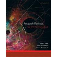 Research Methods in Psychology by Elmes, David G.; Kantowitz, Barry H.; Roediger, III, Henry L., 9781111350741