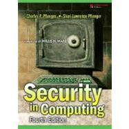 Security in Computing by Pfleeger, Charles P.; Pfleeger, Shari Lawrence, 9780132390774