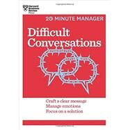 Difficult Conversations by Harvard Business Review, 9781633690783
