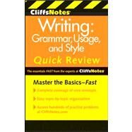 CliffsNotes Writing : Grammar, Usage, and Style Quick Review by Eggenschwiler, Jean; Biggs, Emily Dotson; Reinhardt, Claudia L. W., 9780470880784
