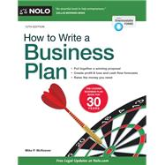 How to Write a Business Plan by McKeever, Mike P., 9781413320787