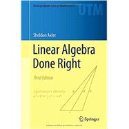Linear Algebra Done Right by Axler, 9783319110790