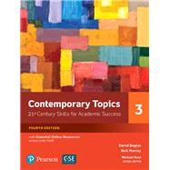 Contemporary Topics 3 with Essential Online Resources by Beglar, David; Murray, Neil, 9780134400792
