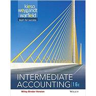 Intermediate Accounting, Sixteenth Edition WileyPLUS Student Package by Kieso, 9781119170815