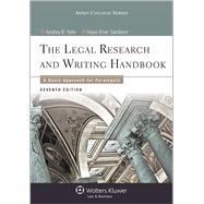 Legal Research and Writing Handbook A Basic Approach for Paralegals by Yelin, Andrea B., 9781454840817