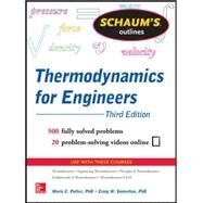Schaums Outline of Thermodynamics for Engineers, 3rd Edition by Potter, Merle; Somerton, Craig W., 9780071830829
