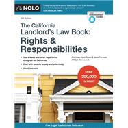 The California Landlord's Law Book by Brown, David; Portman, Janet; Warner, Ralph, 9781413320862
