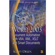 Word 2003 by Driza, Scott, 9781556220869