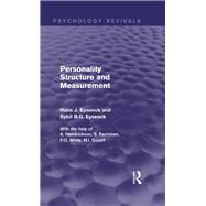 Personality Structure and Measurement (Psychology Revivals) by Investigations; Personality, 9780415840873