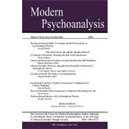Modern Psychoanalysis, No 1 by Center for Modern Psychoanalytic Studie, 9780980050875