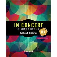 In Concert An Integrated Approach to Reading and Writing, MLA Update by McWhorter, Kathleen T., 9780134590882