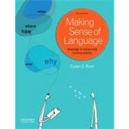 Making Sense of Language Readings in Culture and Communication by Blum, Susan D., 9780199840922