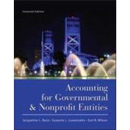 Accounting for Governmental and Nonprofit Entities by Reck, Jacqueline; Lowensohn, Suzanne; Wilson, Earl, 9780078110931