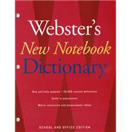Webster's New Notebook Dictionary by Webster's New Dictionaries, 9780547470931