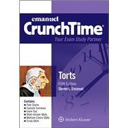 Emanuel CrunchTime for Torts by Emanuel, Steven L., 9781454840954
