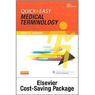 Quick & Easy Medical Terminology: Spiral-bound Text and Elsevier Adaptive Learning Package by Leonard, Peggy C., 9780323370981