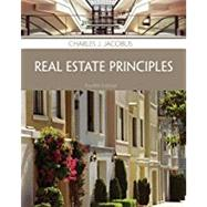 Real Estate Principles by Jacobus, Charles J., 9781285420981