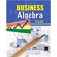 Business Algebra by Macarthur, Kelly, 9781465240989
