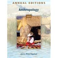 Annual Editions: Anthropology 12/13 by Angeloni, Elvio, 9780078051012