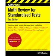 Cliffsnotes Math Review for Standardized Tests by Btps Testing, 9780544631021