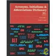 Acronyms, Initialism and Abbreviations Dictionary by Unknown, 9780787641023
