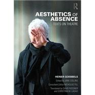 Aesthetics of Absence: Texts on Theatre by Collins; Jane, 9780415831048