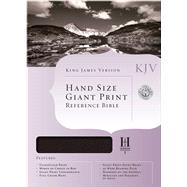 KJV Hand Size Giant Print Reference Bible, Black Genuine Leather by Unknown, 9781433601057