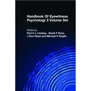 Handbook Of Eyewitness Psychology 2 Volume Set by Toglia, 9780805881073
