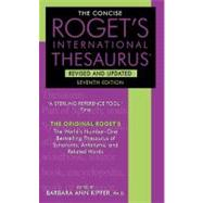 Concise Roget's International Thesaurus by KIPFER BARBARA ANN, 9780061961076