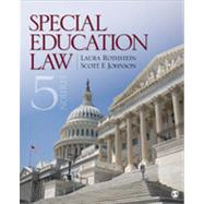 Special Education Law by Rothstein, Laura F.; Johnson, Scott F., 9781452241098