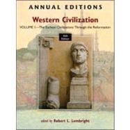 Annual Editions: Western Civilization, Volume 1: The Earliest Civilizations through the Reformation by Lembright, Robert, 9780078051104