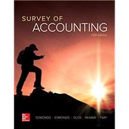 Survey of Accounting by Edmonds, Thomas; Edmonds, Christopher; Olds, Philip; McNair, Frances; Tsay, Bor-Yi, 9781259631122