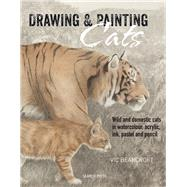 Drawing & Painting Cats Wild and domestic cats in watercolour, acrylic, ink, pastel and pencil by Bearcroft, Vic, 9781782211129