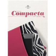 RVR 1960 Biblia, Edición Compacta con Cierre, fucsia/cebra símil piel by Unknown, 9781433691140
