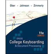 GREGG COLLEGE KEYBOARDING & DOCUMENT PROCESSING (GDP11) MICROSOFT WORD 2016 MANUAL KIT 1: 1-60 by Ober, Scot; Johnson, Jack; Zimmerly, Arlene, 9781259921148