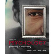 Psychology From Inquiry to Understanding (paperback) by Lilienfeld, Scott O.; Lynn, Steven J; Namy, Laura L.; Woolf, Nancy, 9780205961184