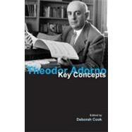 Theodor Adorno: Key Concepts by Cook,Deborah, 9781844651207