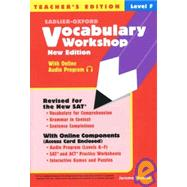 Vocabulary Workshop Level F - Teacher's Edition by Shostak, Jerome, 9780821571217