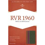 RVR 1960 Biblia con Referencias, chocolate/ciruela/verde jade símil piel by Unknown, 9781433691225