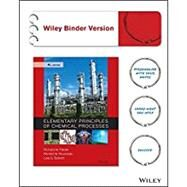 Elementary Principles of Chemical Processes 4e Binder Ready Version + WileyPLUS Registration Card (Wiley Plus Products) by Felder, Richard M.; Rousseau, Ronald W.; Bullard, Lisa G., 9781119231240