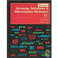 Reverse Acronyms, Initialisms and Abbreviations Dictionary by Bonk, Mary Rose, 9780787641245