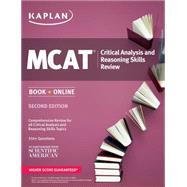 Kaplan MCAT Critical Analysis and Reasoning Skills Review by Macnow, Alexander Stone, M.D., 9781625231246