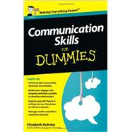 Communication Skills For Dummies by Kuhnke, Elizabeth, 9781118401248