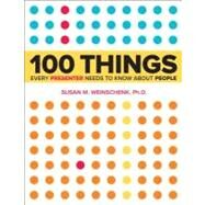 100 Things Every Presenter Needs to Know About People by Weinschenk, Susan, 9780321821249