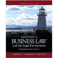 Bundle: Anderson's Business Law and the Legal Environment, Comprehensive Volume, Loose-Leaf Version, 23rd + MindTap Business Law, 2 terms (12 months) Printed Access Card by Twomey, David P.; Jennings, Marianne M.; Greene, Stephanie M, 9781337061278