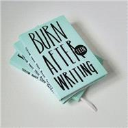 Burn After Writing Teen by Shove, Rhiannon, 9781908211279