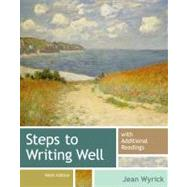 Steps to Writing Well with Additional Readings by Wyrick, Jean, 9781133311294