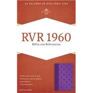 RVR 1960 Biblia con Referencias, violeta con plateado símil piel by Unknown, 9781433691300