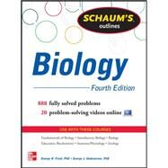 Schaum's Outline of Biology 865 Solved Problems + 25 Videos by Fried, George; Hademenos, George, 9780071811309